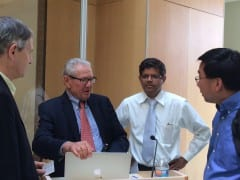 Dr. Allan Hoffman Visits the Center for Nanomedicine